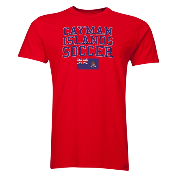 Cayman Islands Soccer T-Shirt (Red)