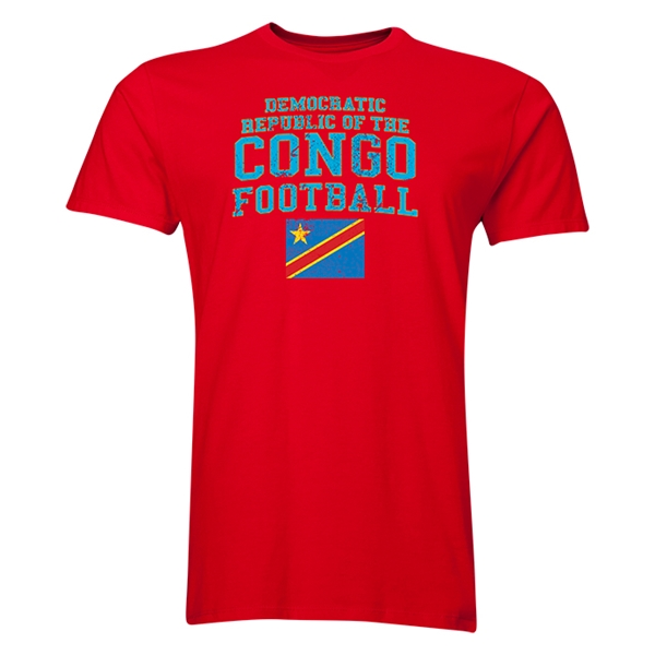 Congo DR Football T-Shirt (Red)