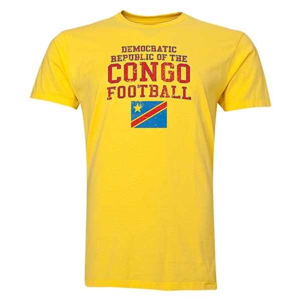 Congo DR Football T-Shirt (Yellow)