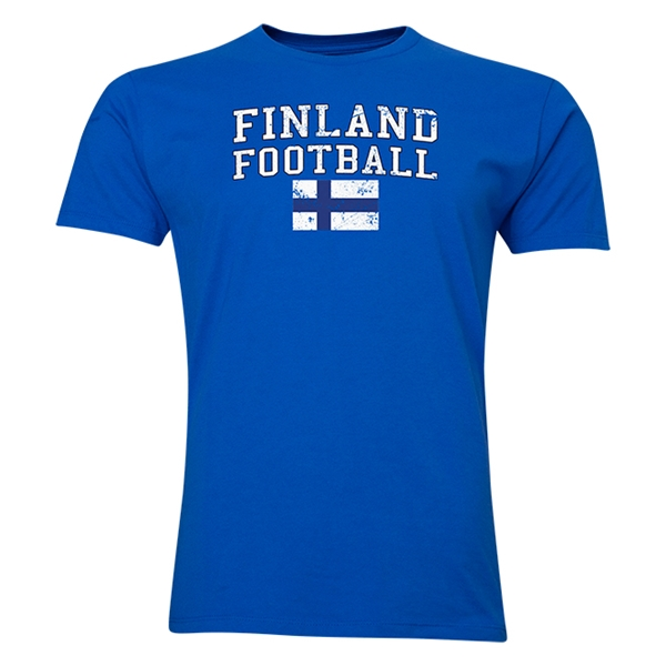 Finland Football T-Shirt (Royal)