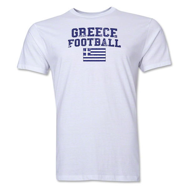Greece Football T-Shirt (White)