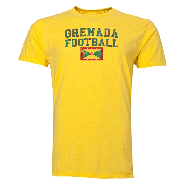 Grenada Football T-Shirt (Yellow)