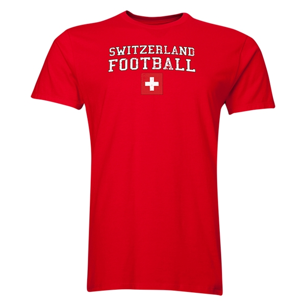 Switzerland Football T-Shirt (Red)