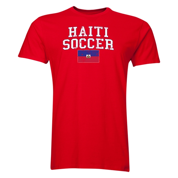 Haiti Soccer T-Shirt (REd)