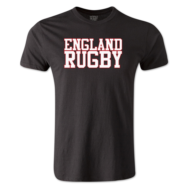 England Supporter Rugby T-Shirt (Black)