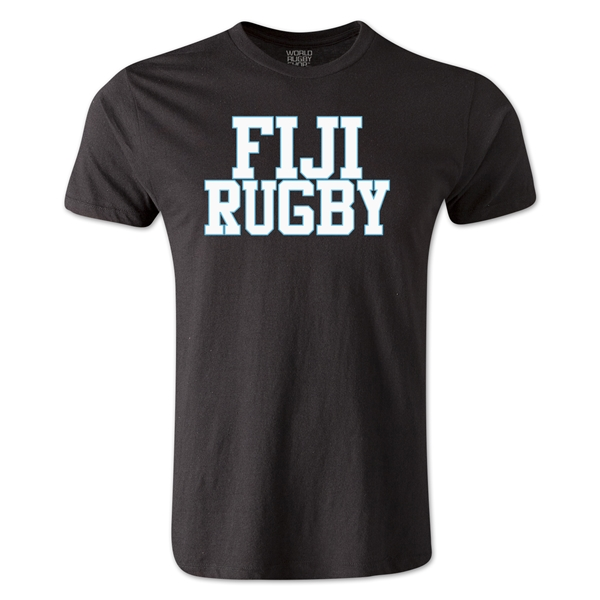 Fiji Supporter Rugby T-Shirt (Black)