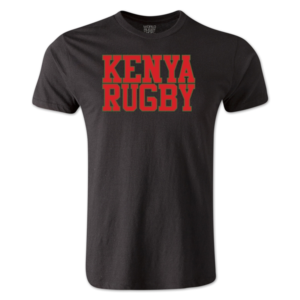 Kenya Supporter Rugby T-Shirt (Black)
