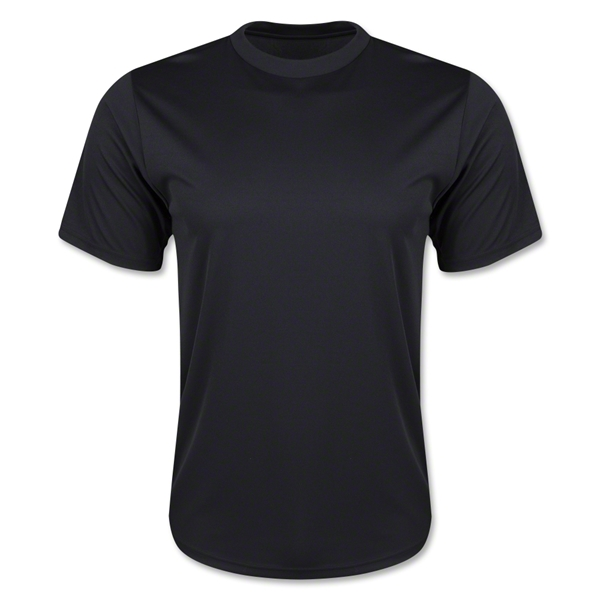 Moisture Wicking Poly T-Shirt (Black)