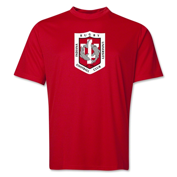 Indiana University Rugby Performance T-Shirt (Red)
