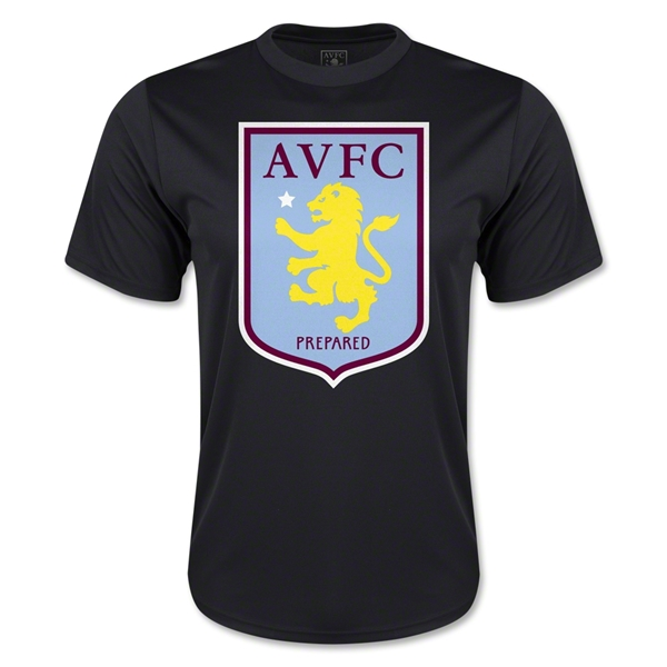 Aston Villa Moisture Wicking Poly T-Shirt (Black)