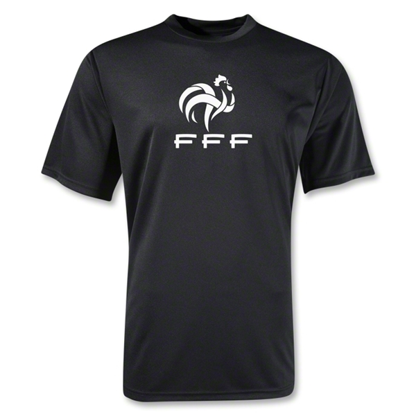 France FFF Poly T-Shirt (Black)