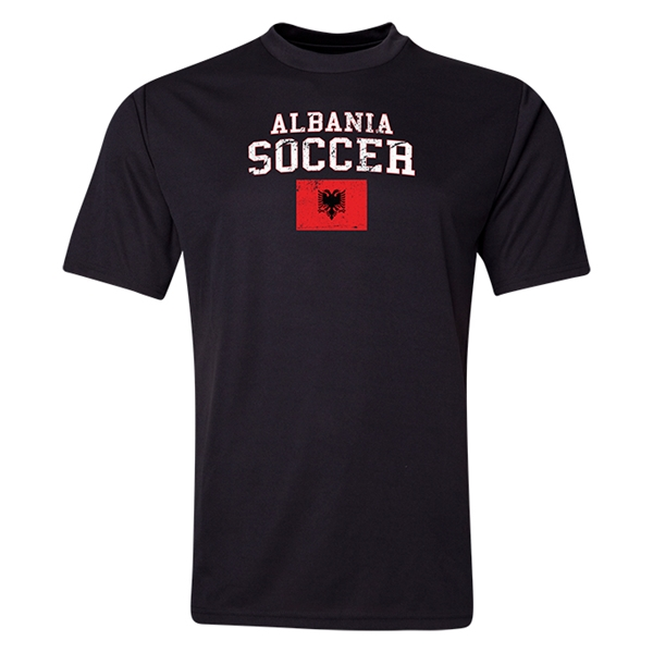 Albania Soccer Training T-Shirt (Black)