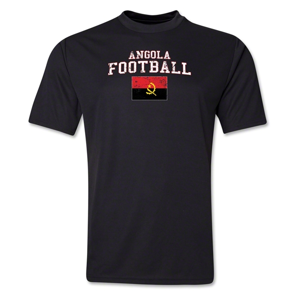 Angola Football Training T-Shirt (Black)