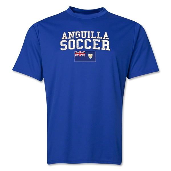 Anguilla Soccer Training T-Shirt (Royal)