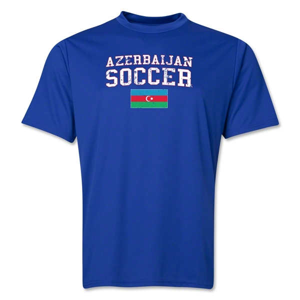 Azerbaijan Soccer Training T-Shirt (Royal)