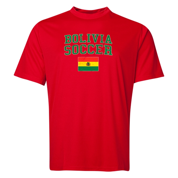 Bolivia Soccer Training T-Shirt (Red)