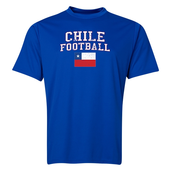 Chile Football Training T-Shirt (Royal)