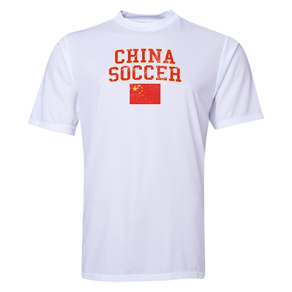 China Soccer Training T-Shirt (White)