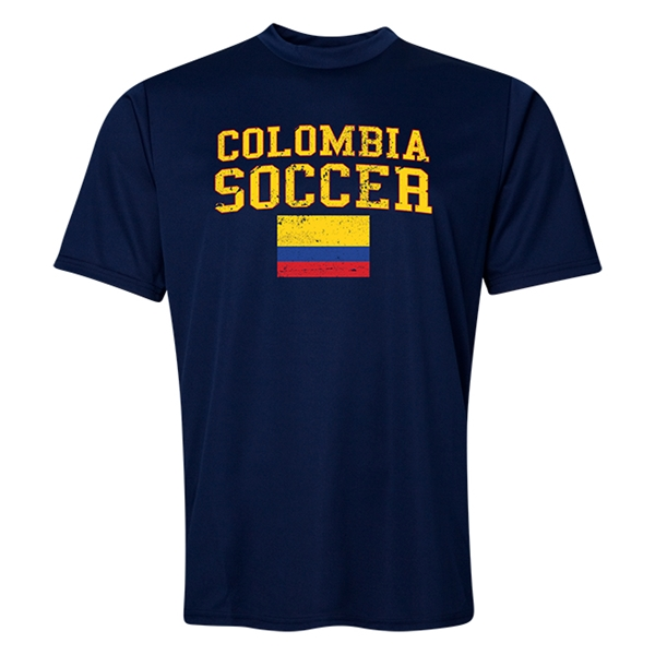 Colombia Soccer Training T-Shirt (Navy)