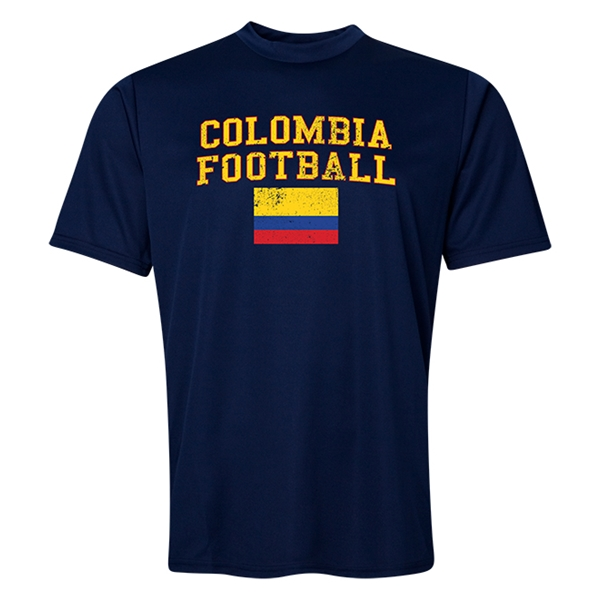 Colombia Football Training T-Shirt (Navy)