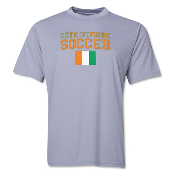 Cote d'Ivoire Soccer Training T-Shirt (Grey)