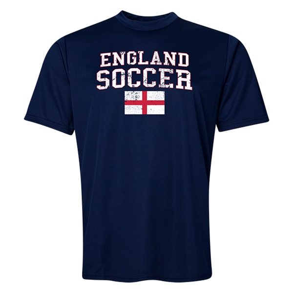 England Soccer Training T-Shirt (Navy)