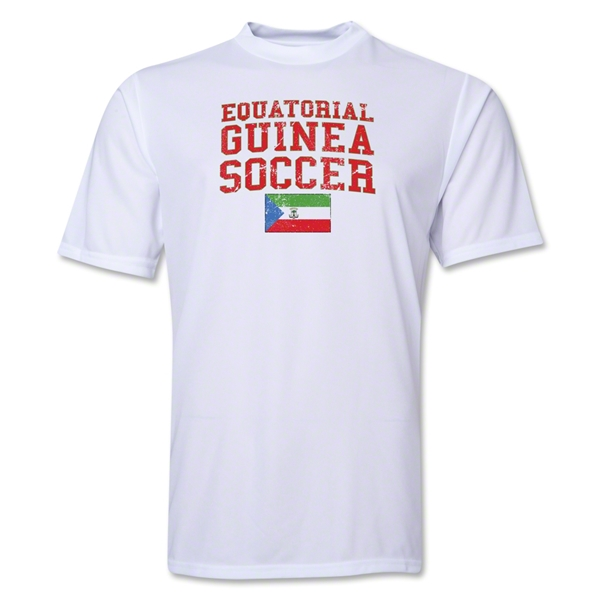 Equatorial Guinea Soccer Training T-Shirt (White)