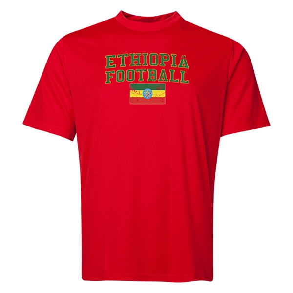 Ethiopia Football Training T-Shirt (Red)