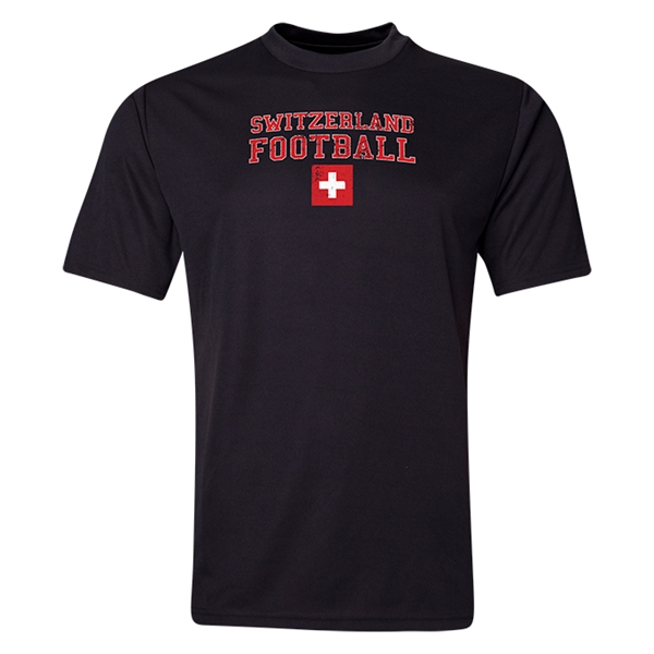 Switzerland Football Training T-Shirt (Black)