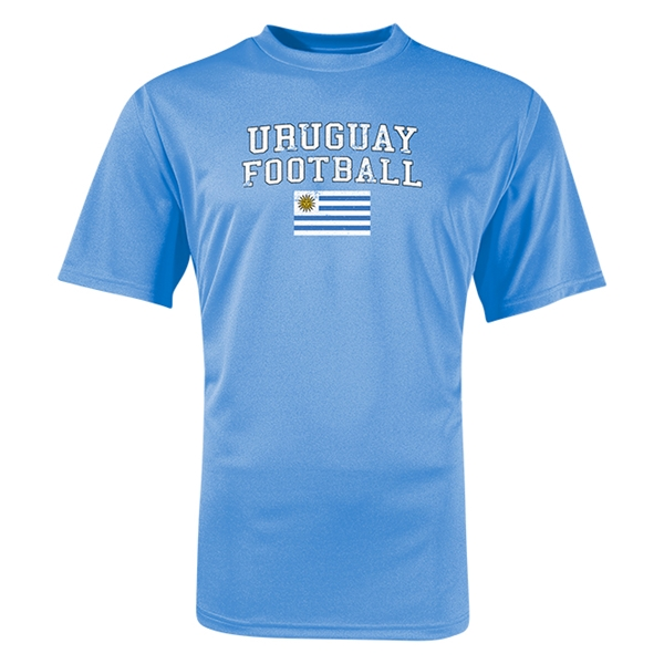 Uruguay Football Training T-Shirt (Sky)