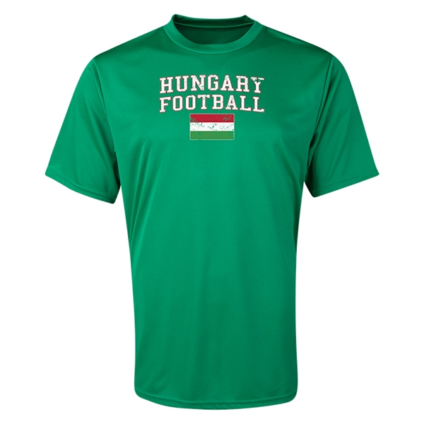Hungary Football Training T-Shirt (Green)