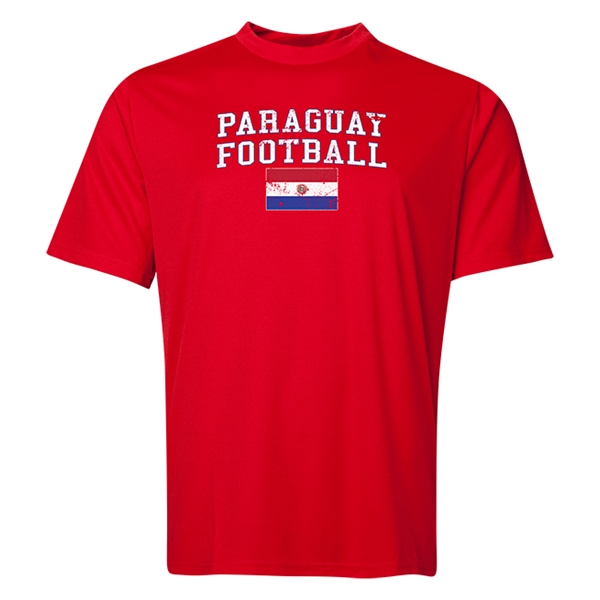 Paraguay Football Training T-Shirt (Red)