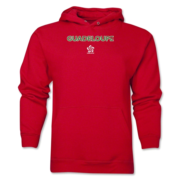 Guadaloupe CONCACAF Distressed Hoody (Red)
