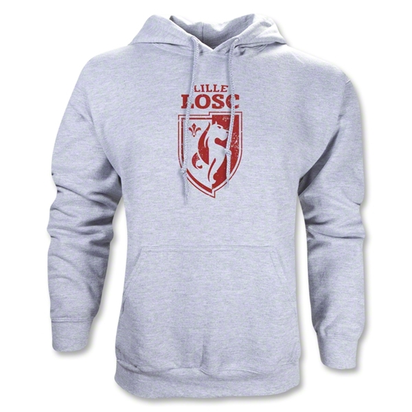 LOSC Lille Distressed Crest Hoody (Gray)