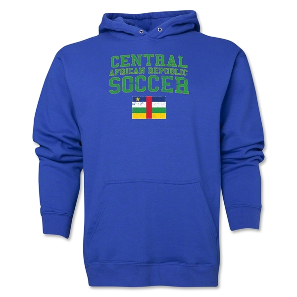 Central African Republic Soccer Hoody (Royal)