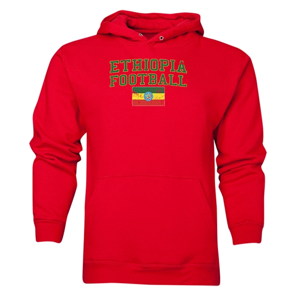 Ethiopia Football Hoody (Red)