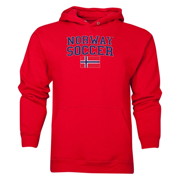 Norway Soccer Hoody (Red)