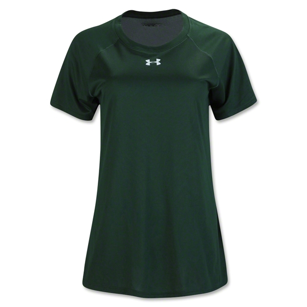 Under Armour Women's Locker T-Shirt (Dark Green)
