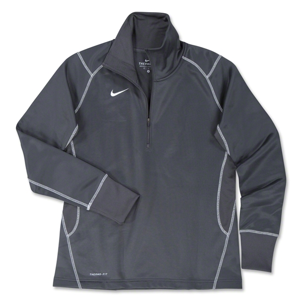 Nike Women's 1/4 Zip Performance Thermal Top (Dk Grey)