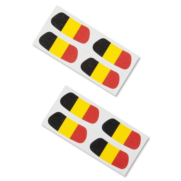Belgium Flags Eyeblacks (Four Pack)