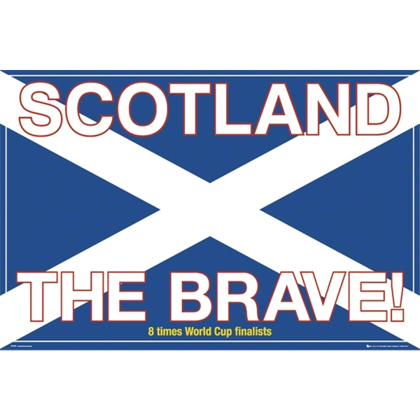 Scotland Set of 2 Soccer Posters