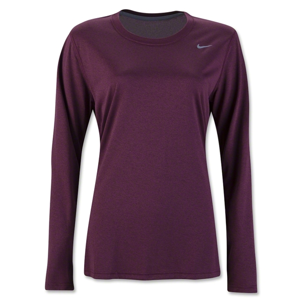 Nike Women's Long Sleeve Legend Shirt (Maroon)