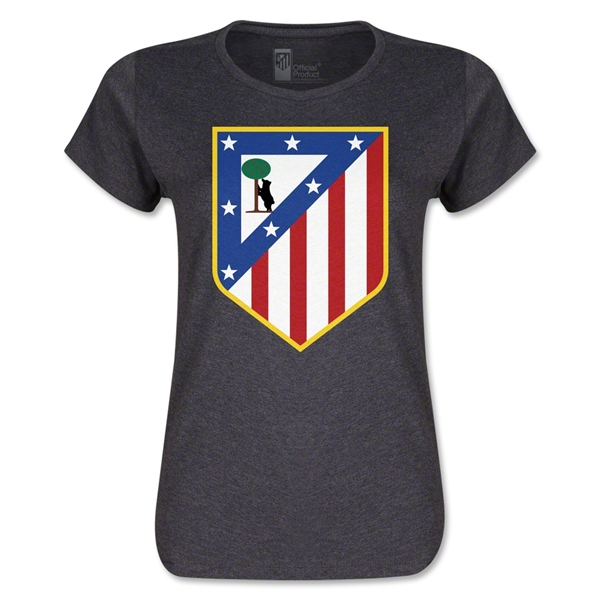 Atletico Madrid Crest Women's T-Shirt (Dark Gray)