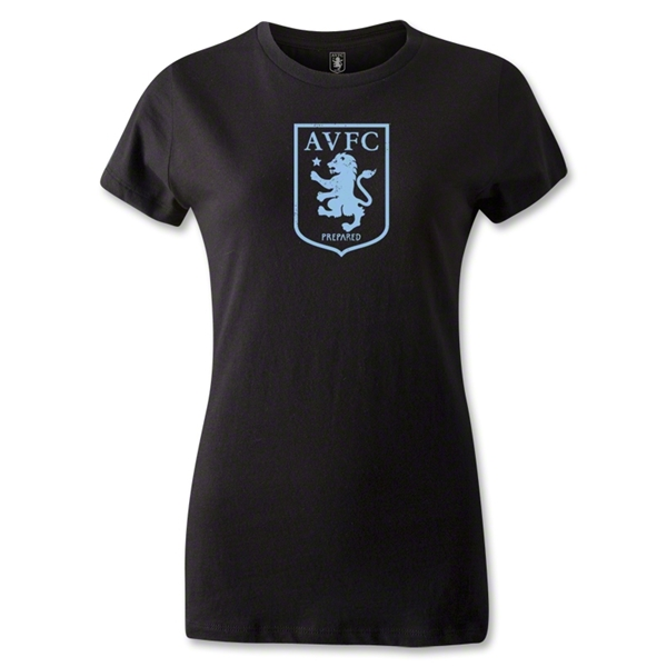 Aston Villa Women's Distressed T-Shirt