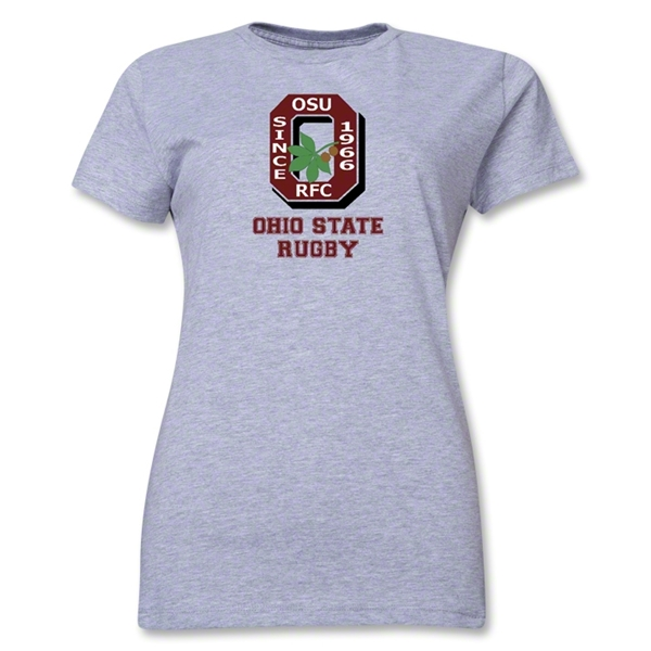 Ohio State Alumni Rugby Women's T-Shirt (Gray)