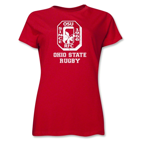 Ohio State Alumni Rugby Women's T-Shirt (Red)