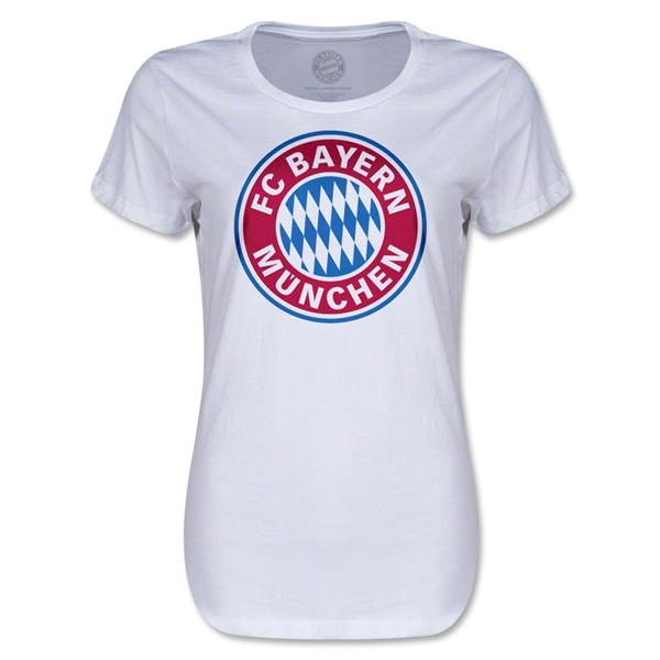 Bayern Munich Logo Women's T-Shirt (White)