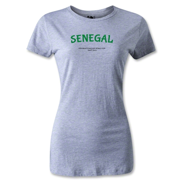 Senegal FIFA Beach World Cup 2013 Women's T-Shirt (Gray)