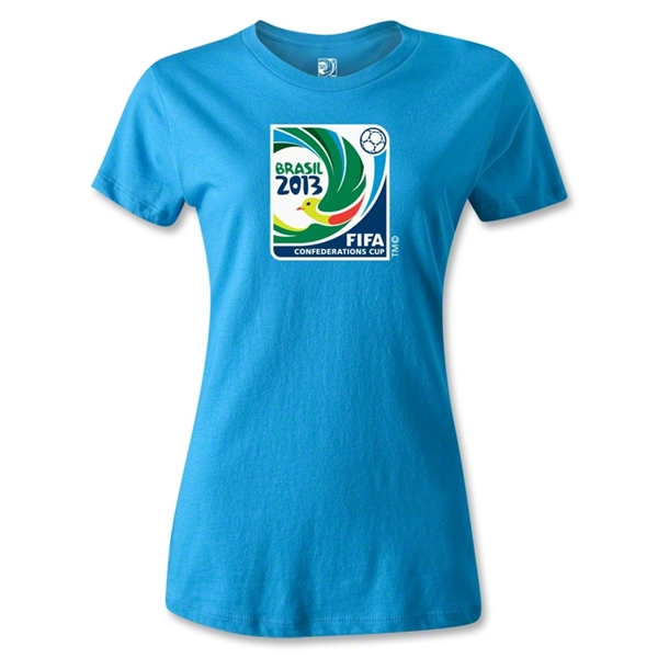 FIFA Confederations Cup 2013 Women's Emblem T-Shirt (Turquoise)