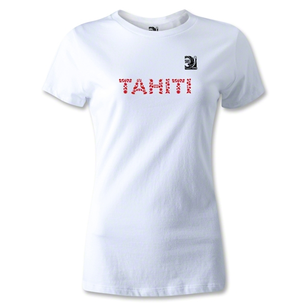 FIFA Confederations Cup 2013 Women's Tahiti T-Shirt (White)
